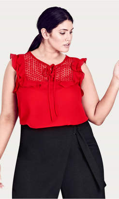 City Chic Cute Frill Top