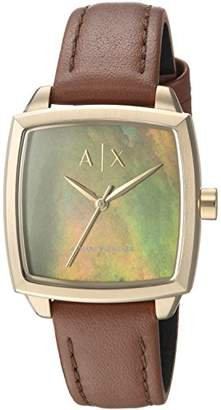 Armani Exchange Women's Dress Leather Watch AX5451
