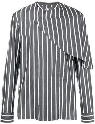 Chalayan half cape striped shirt