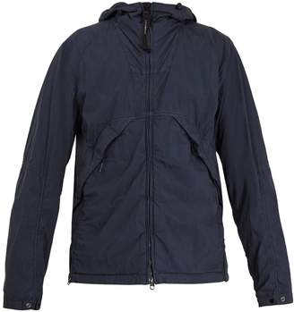 C.P. Company Goggle hooded short cotton-blend jacket