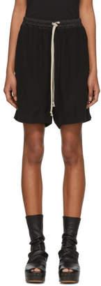 Rick Owens Black Drawstring Boxer Shorts