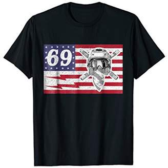 M·A·C Uncle Ronnie 69 American USA Flag Mac Lightning T Shirt Bolt