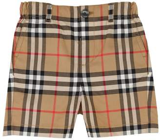 Burberry Check Cotton Chino Shorts