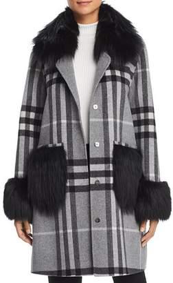 Maximilian Furs Fox Fur Trim Coat - 100% Exclusive
