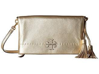 Tory Burch McGraw Metallic Fold-Over Crossbody