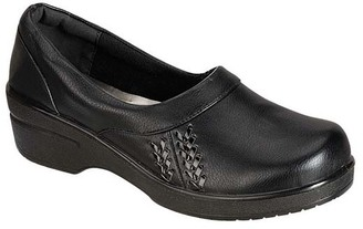 Black Dallas Weave-Accent Clog $28 thestylecure.com