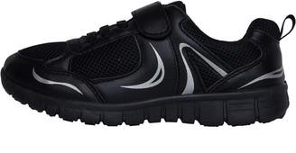 268f1e3ad72 Kp85 KP85 Junior Boys Velcro Trainers Black