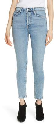 RE/DONE Comfort Stretch High Waist Ankle Crop Jeans