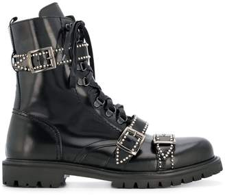 Christian Pellizzari buckled ankle boots