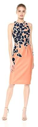 Adrianna Papell Women's Spotted Garden Cutaway Sheath Dress