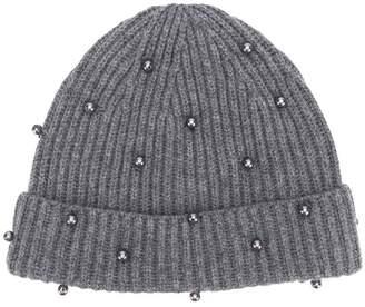 N.Peal embellished beanie hat