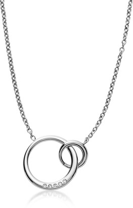 Skagen Elin Silver Tone Crystal Pendant Necklace