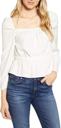 7 For All Mankind Square Neck Top