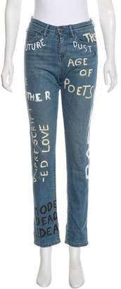 Each X Other Painted High-Rise Jeans