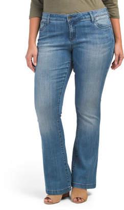 Plus Chrissy Flare 5 Pocket Jeans