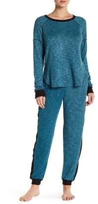 Kensie Rib Knit Panel Sweatpants