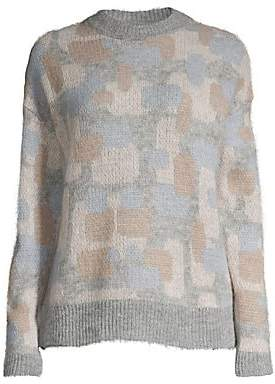 Peserico Women's Camo Wool & Alpaca-Blend Jaquard Sweater