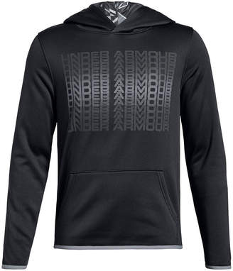 Under Armour Big Boys Branded Logo-Print Hoodie