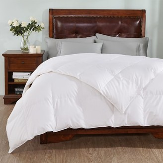 Peace Nest White Goose Down Comforter with 100% Cotton and 600 Fill Power, Full/Queen Size