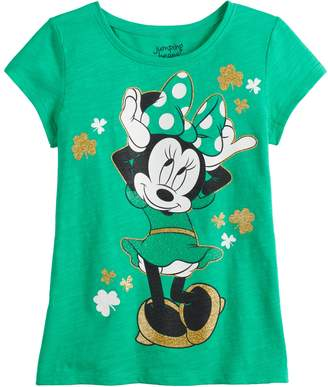 Disney's Minnie Mouse Girls 4-12 St. Patty's Day Tee by Jumping Beans