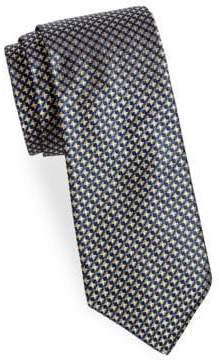 Saks Fifth Avenue Dotted Square Silk Tie