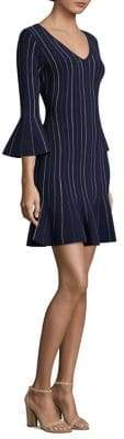 Milly Mini Mermaid Bell-Sleeve Sheath Dress