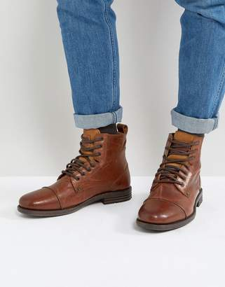 Levi's Levis Emmerson Leather Boots In Brown