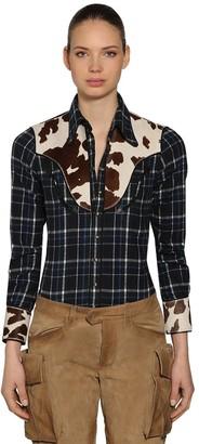 DSQUARED2 Cowgirl Cotton Plaid Shirt