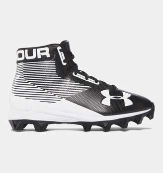 Under Armour Boys UA Hammer Mid Jr. Rubber Molded Wide Football Cleats