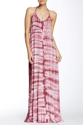 American Twist Tie-Dye Spaghetti Maxi Dress