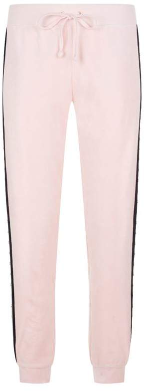 Faux Pearl Embellished Sweatpants