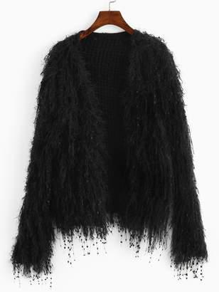 Shein Faux Fur Cardigan
