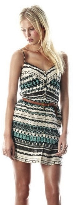 Myne - Kara Dress, Teal Boho