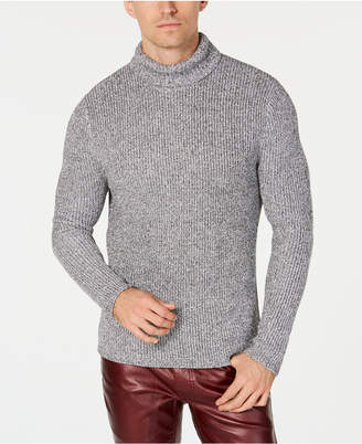 INC International Concepts I.n.c. Men's Lurex Shine Textured Turtleneck Sweater