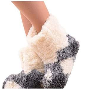 Marian Women's Natural Sheep Wool Warm Home Slippers, Bootie Shoes (6.5, )