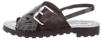 Kenzo Leather Logo Sandals