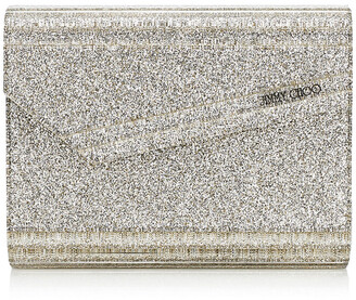 Jimmy Choo CANDY Champagne Glitter Acrylic Clutch Bag