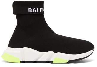 Balenciaga Speed High Top Sock Trainers - Womens - Black
