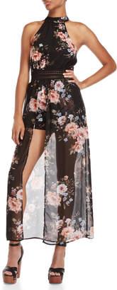 Bebop Halter Neck Floral Maxi Walkthrough Dress