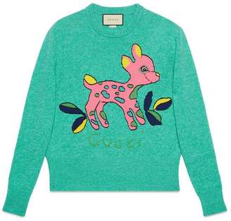 Gucci Wool sweater with fawn