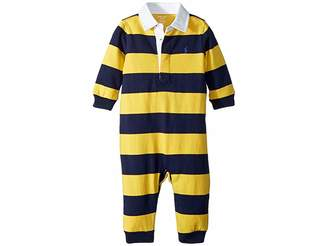Ralph Lauren Striped Cotton Rugby Coverall (Infant)