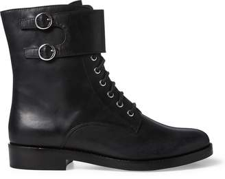 Ralph Lauren Saige Leather Combat Boot
