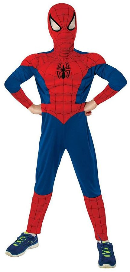 Ultimate Spider-Man Muscle Chest Costume - Kids