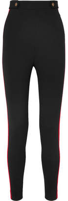 Alexander McQueen Wool And Cashmere-blend Skinny Pants - Black