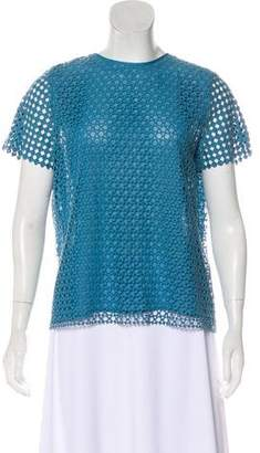 Tory Burch Eyelet Knit Overlay Top