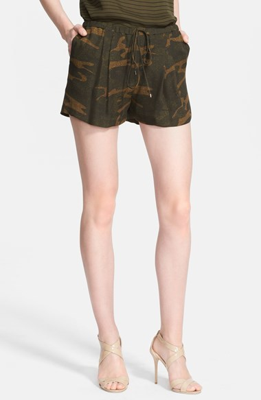 Haute Hippie Camo Silk Shorts