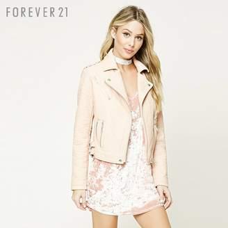 Forever 21 (フォーエバー 21) - フェイクレザーライダースジャケット