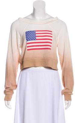 Wildfox Couture Ombré American Flag Top