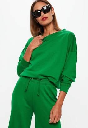 Missguided Green Oversized Sweatshirt