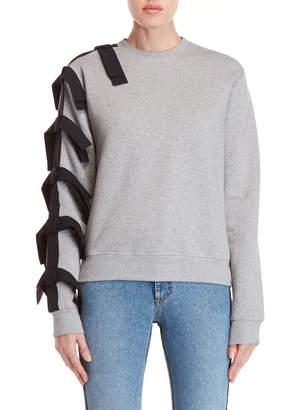 MSGM Bow Crew Neck Fleece Sweatshirt